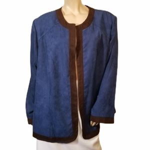 New Studio 1 26W Faux Suede Jacket